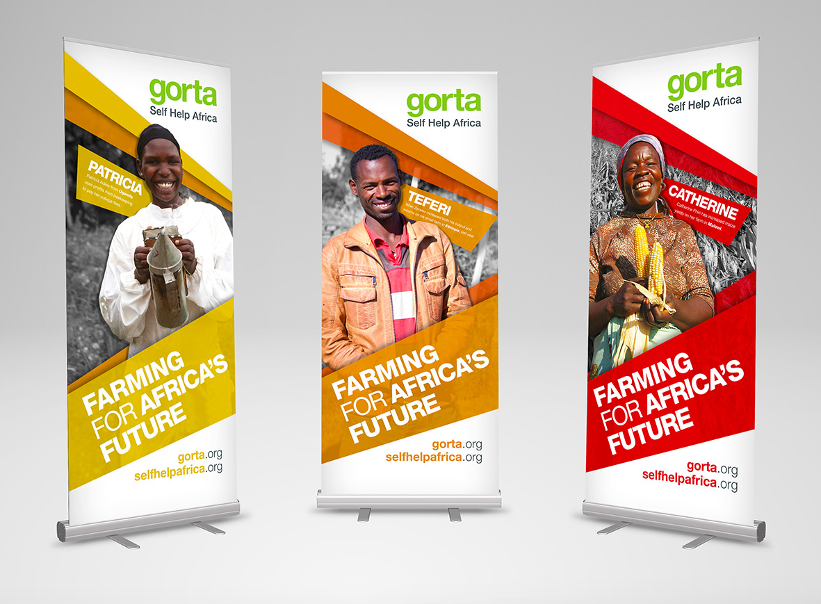Gorta-Self Help Africa hero banner set of three multicolour
