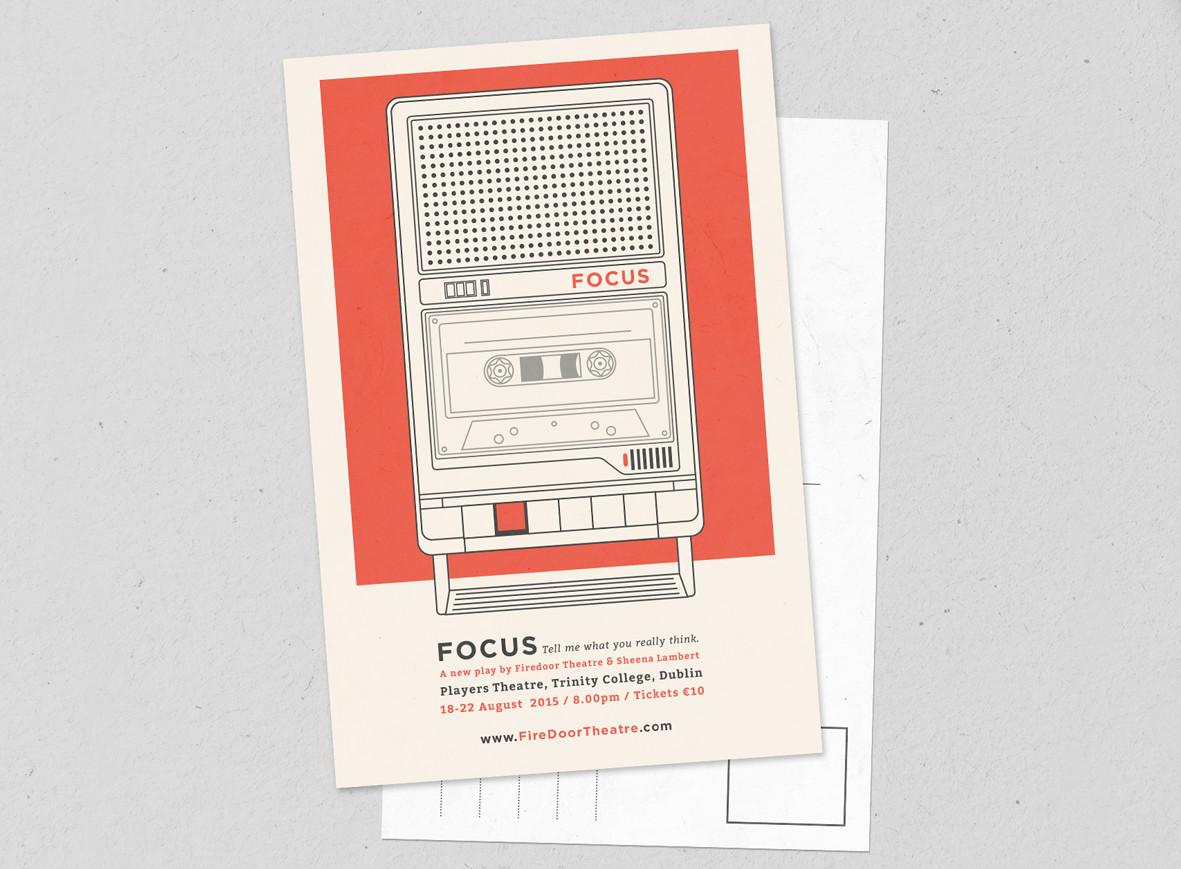 Postcard for Firdoor Theatre's play FOCUS