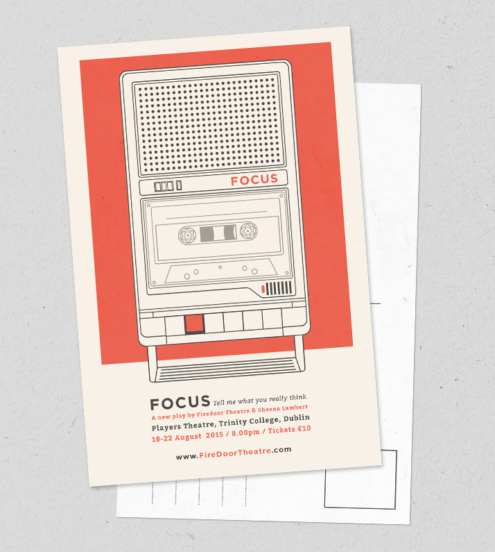 Postcard for the play Focus