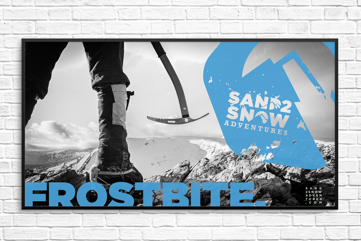 Sand2Snow Adventures Frostbite poster sample