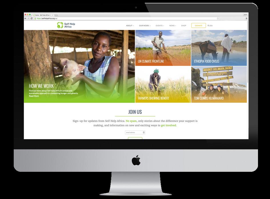 Full screen Gorta-Self Help Africa website