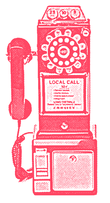 Yes, you can contact freak by funky retro old phone