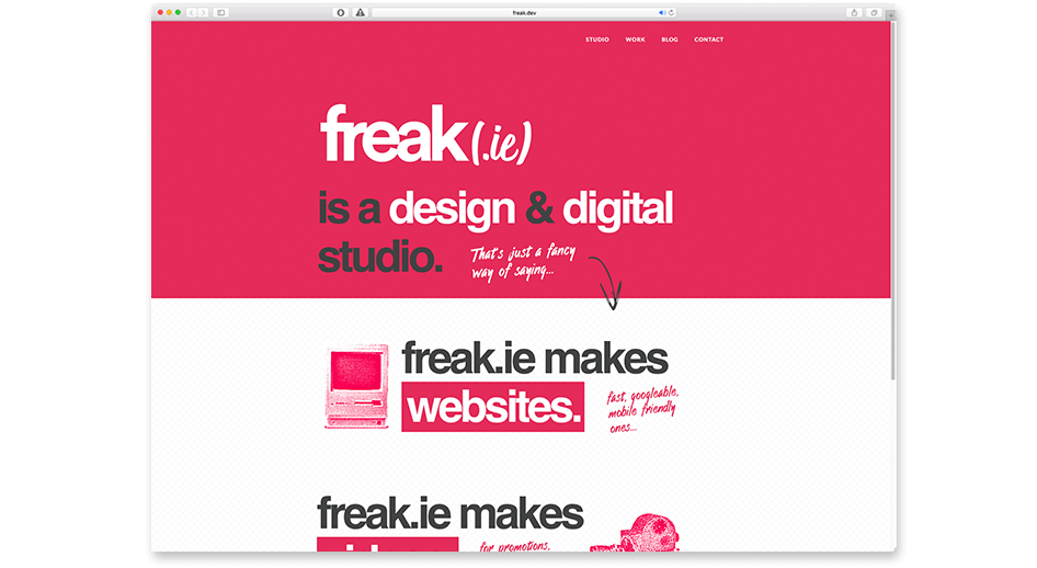 this is how freak.ie looks in this timeline